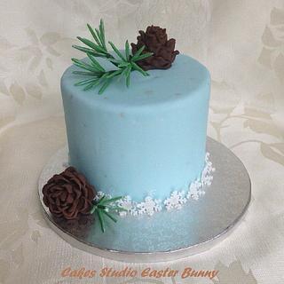 Winter themed cake - Cake by Irina Vakhromkina