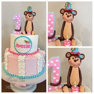 Monkey birthday cake - Cake by Edible Sugar Art