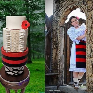 Traditional Romanian clothes Couture Cakers International