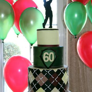 A  Golfer's 60th Birthday Cake
