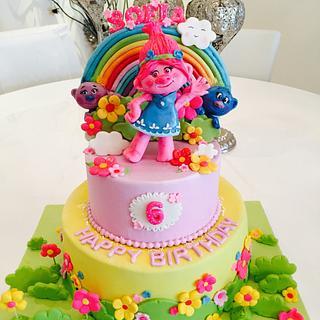 Trolls - Cake by Malika