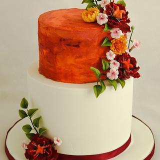 Autumn wedding cake - Cake by Mé Gâteaux