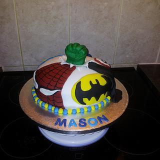 hero cake. - Cake by karlie