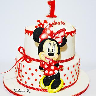 painted minnie cake