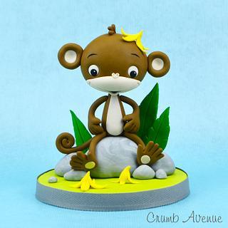 Monkey Topper - Cake by Crumb Avenue