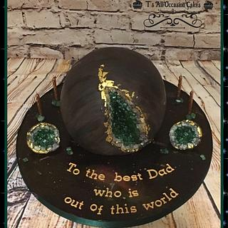 Geode planet cake - Cake by Teraza @ T's all occasion cakes