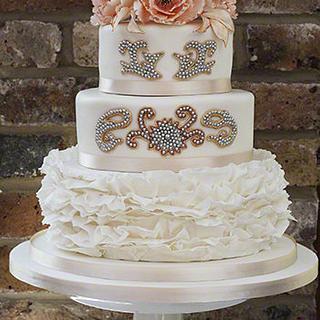 Indian Fusion Wedding Dress Cake