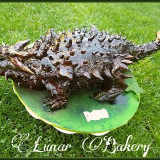 Ankylosaurus cake