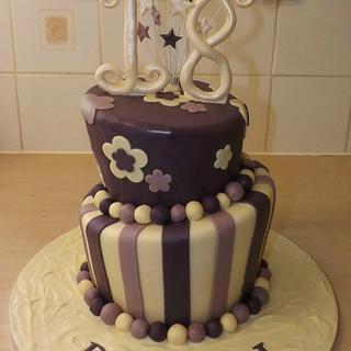 Wonky 18th! - Cake by SugarMagicCakes (Christine)