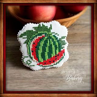 Cross Stitch Watermelon Cookie