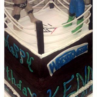 WWE Rock vs John Cena cake