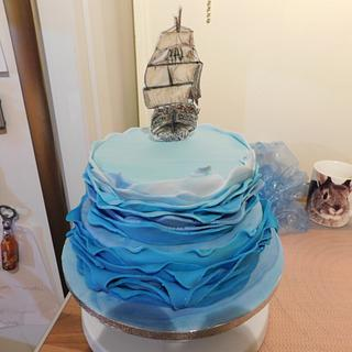 Disney inspired Pirate Fairy & Tinkerbell Cake - Cake by CCC194