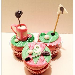 Golf Girl Cuocakes - Cake by Angel Chang