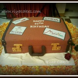 Travel suitcase cake