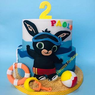 Bing bunny summer cake