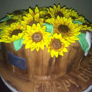 Sunflower cake - Cake by Cakes by Crissy