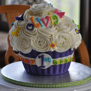 Fun 1st Birthday Giant cupcake!