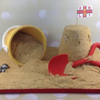 RNLI sandcastle