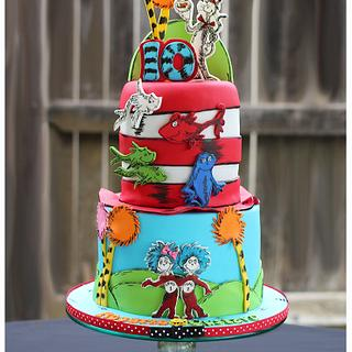 Dr Suess Themed Cake