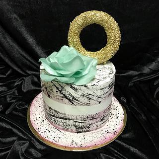 Hand painted Sharp edge Cake - Cake by Duygu Tugcu
