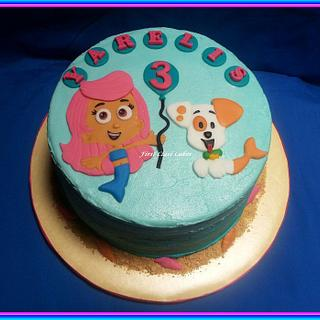 Bubble Guppies Ombre Cake - Cake by First Class Cakes