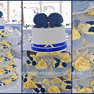 shell theme wedding cakes
