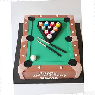 21st birthday cake!! - Cake by Bella's Cakes