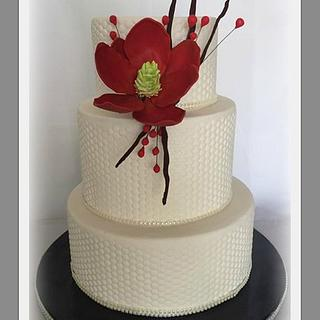 White honeycomb cake