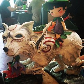 Cake okami video game theme.