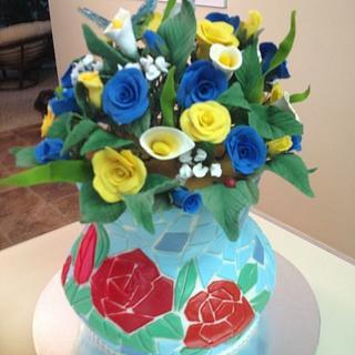 Vase Birthday Cake