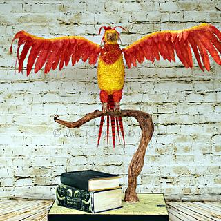 Fawkes phoenix - Cake by WickedGood Cakes