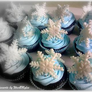 Snowflakes themed cuppies