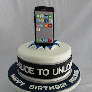 iPhone themed birthday cake - Cake by Sweet Shop Cakes