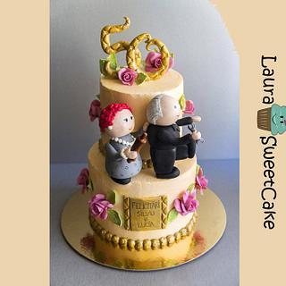 50 years of marriage Anniversary Cake