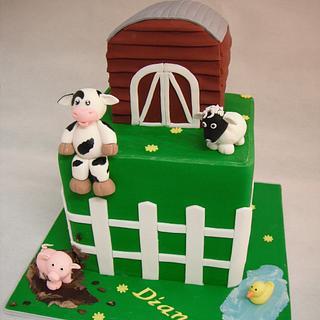 Farmyard Cuteness - Cake by Meganlicious Cakes
