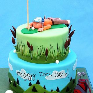 Golfers 50th Cake - Cake by Peggy Does Cake