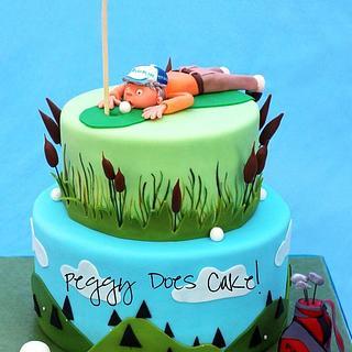 Golfers 50th Cake