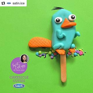 Perry the Platypus Cakesicle