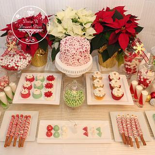 Christmas Dessert Table for Advent Calendar 2015 Collaboration