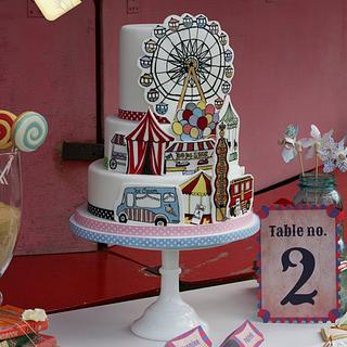 Fairground Wedding Cake