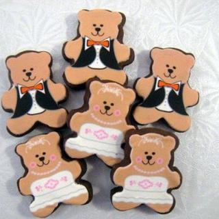 Wedding Bear Brownie Bites