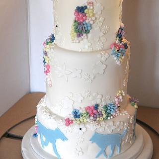 Silhouette Wedding Cake  - Cake by Hamilton's Cakes