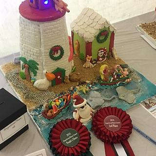Seaside Gingerbread House
