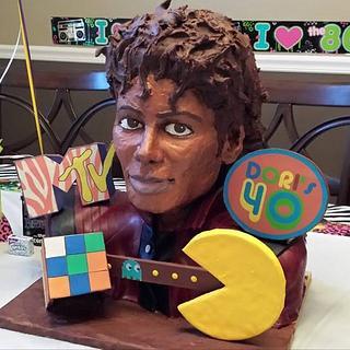 80's themed 40th birthday cake starring Michael Jackson  - Cake by Paul Joachim