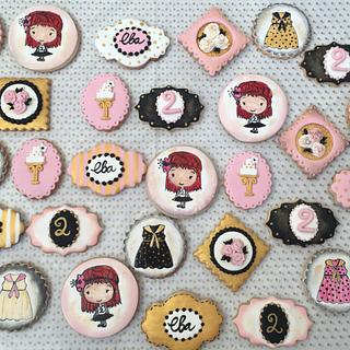 Girl birthday cookies