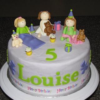 slumber party cake - Cake by Deborah