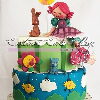 Liludori's World - Cake by Eliana Cardone - Cartoon Cake Village
