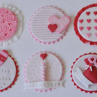 Valentine Cupcake Toppers - Cake by Neha