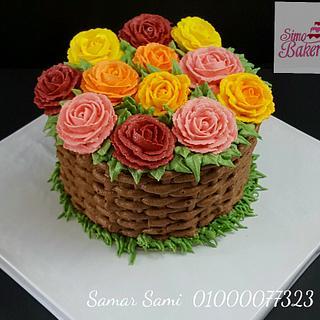 Buttercream flowers cake - Cake by Simo Bakery