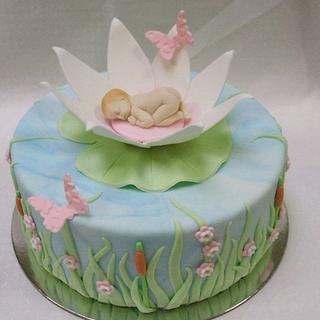 Water lily baby - Cake by Kake Krumbs